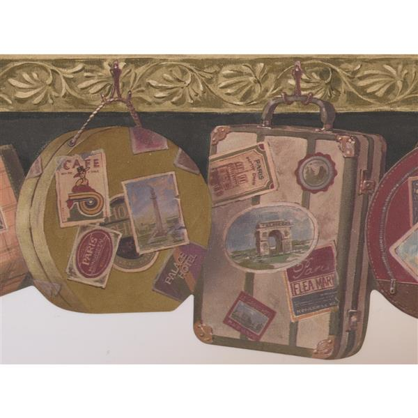 Retro Art Vintage Suitcases Wallpaer - Grey