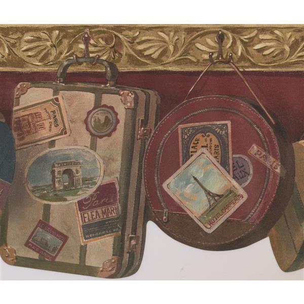 Retro Art Vintage Suitcases Wallpaper - Cherry