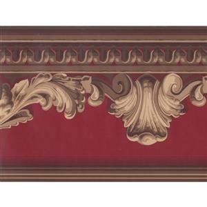 York Wallcoverings Crown Molding Wallpaper Border - Gold