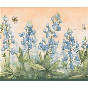 York Wallcoverings Floral Wallpaper - Blue