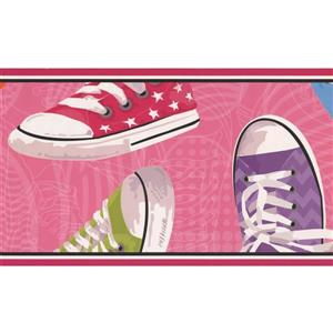 York Wallcoverings Retro Sneaker Wallpaper Border