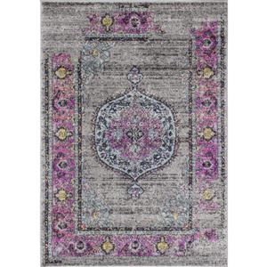 Tapis Sovereign abstrait de Novelle Home, 5' x 8', rose