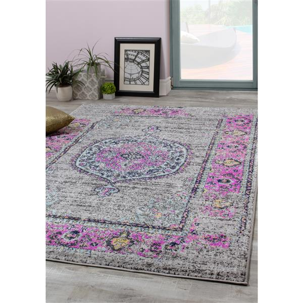 Novelle Home Sovereign Abstract Rug - 8' x 11' - Pink