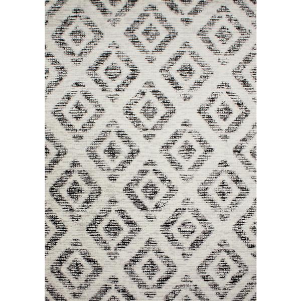 Novelle Home Meridian Abstract Rug - 5' x 8' - Gray