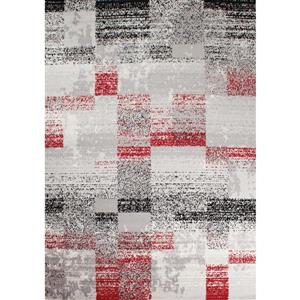 Novelle Home Meridian Geometric Rug - 8' x 11' - Red