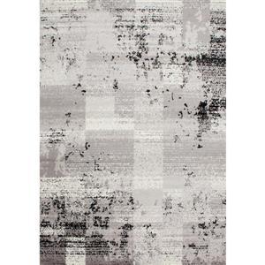Tapis Meridian géométrique de Novelle Home, 5' x 8', noir