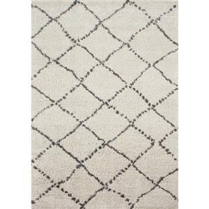 Tapis Matrique géométrique de Novelle Home, 5' x 8', gris
