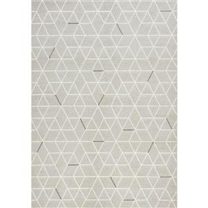 Tapis Intrepid géométrique de Novelle Home, 8' x 11', gris