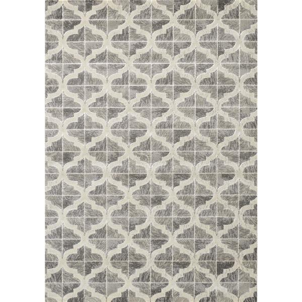 Novelle Home Juneau Abstract Rug - 5' x 8' - Gray