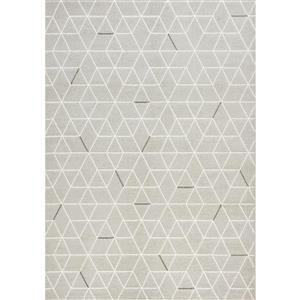 Novelle Home Intrepid Geometric Rug - 5' x 8' - Gray