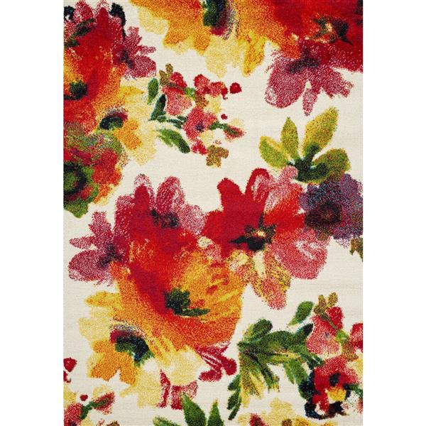 Novelle Home Equinox Floral Rug - 8' x 11' - Red