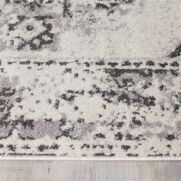 Tapis Converge abstrait de Novelle Home, 7' x 10', gris