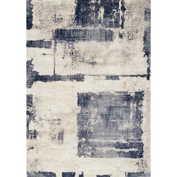Tapis Adele abstrait de Novelle Home, 8' x 11', bleu