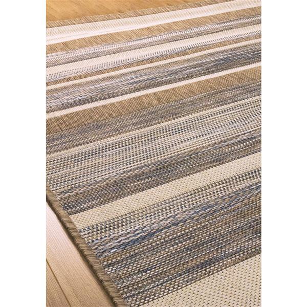 Tapis Trellis ligné de Kalora, 8' x 11', gris