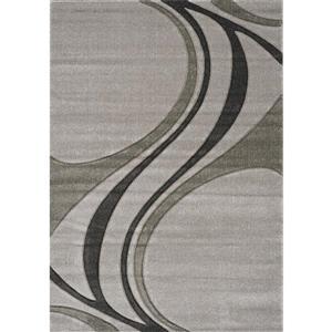 Tapis Hudson abstrait de Kalora, 2 x 4', gris
