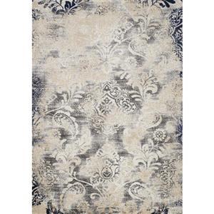 Tapis Clarity abstrait de Kalora, 5' x 8', gris