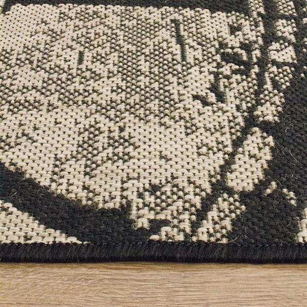 Tapis Alpha de Kalora, 5' x 8', noir