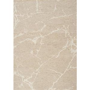 Tapis Vista abstrait de Kalora, 5' x 8', beige