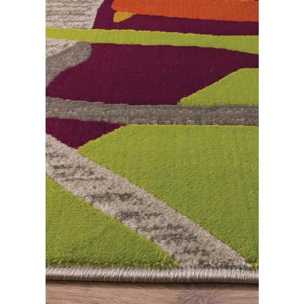 Tapis Topaz abstrait de Kalora, 8' x 11', gris
