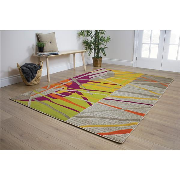 Kalora Topaz Abstract Rug - 5' x 8' - Gray