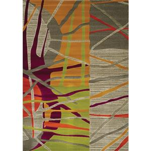 Kalora Topaz Abstract Rug - 5' x 8' - Gray