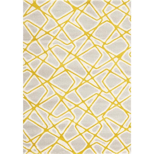 Tapis Safi géométrique de Kalora, 8' x 11', gris