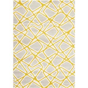 Tapis Safi géométrique de Kalora, 5' x 8', gris