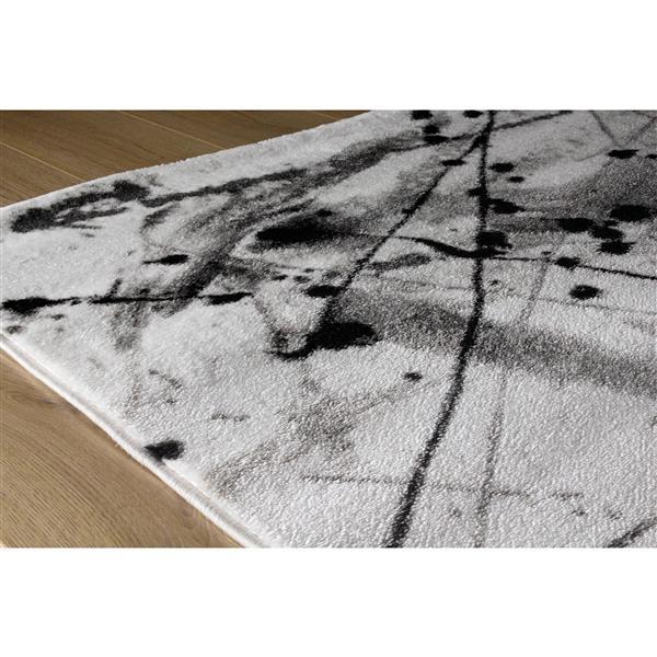 Kalora Platinum Abstract Rug - 5' x 8' - White