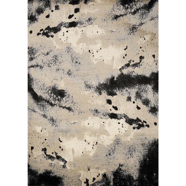 Tapis Platinum abstrait de Kalora, 8' x 11', beige