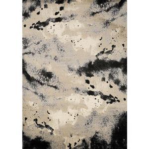 Tapis Platinum abstrait de Kalora, 5' x 8', beige