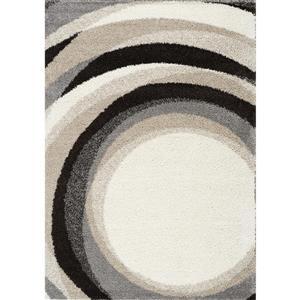 Tapis Mona géométrique de Kalora, 8' x 11', crème