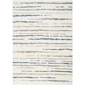 Kalora Mona Stripe Rug - 5' x 8' - Cream