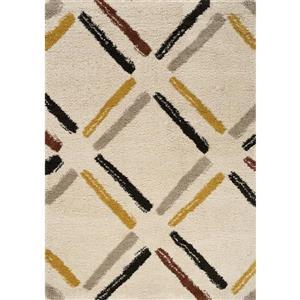 Tapis Maroq géométrique de Kalora, 8' x 11', crème