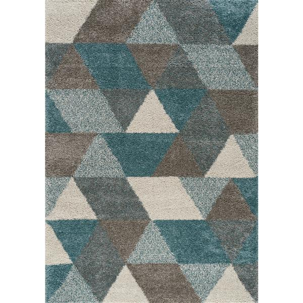 Kalora Maroq Geometric Rug - 5' x 8' - Gray