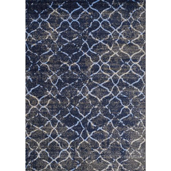 Tapis Focus abstrait de Kalora, 8' x 11', gris