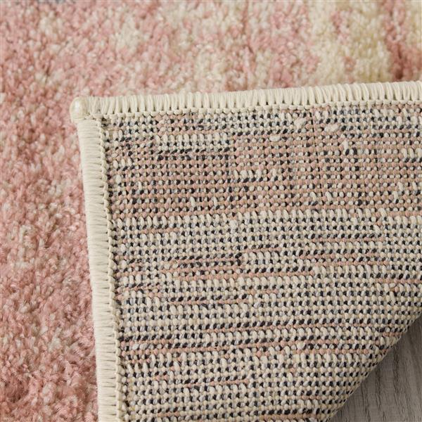 Tapis Focus géométrique de Kalora, 8' x 11', rose