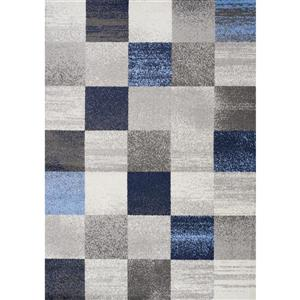 Tapis Focus géométrique de Kalora, 8' x 11', bleu