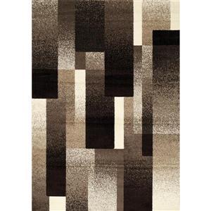 Tapis Casa géométrique de Kalora, 8' x 11', brun