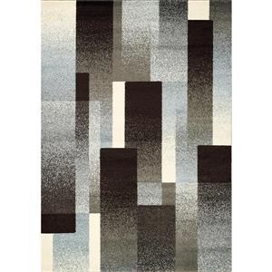 Tapis Casa géométrique de Kalora, 5' x 8', gris