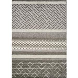 Tapis Camino géométrique de Kalora, 8' x 11', gris