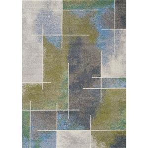 Kalora Camino Geometric Rug - 2 x 4' - Gray