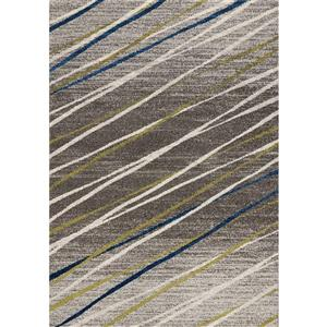 Tapis Camino ligné de Kalora, 5' x 8', gris