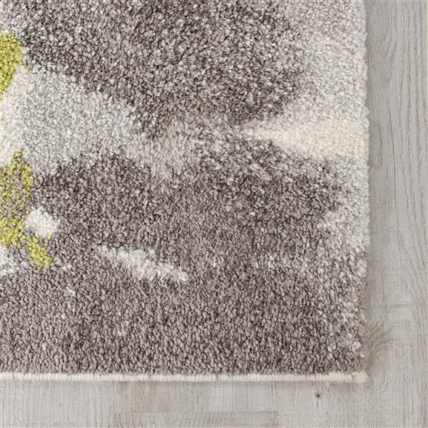 Tapis Camino abstrait de Kalora, 8' x 11', noir