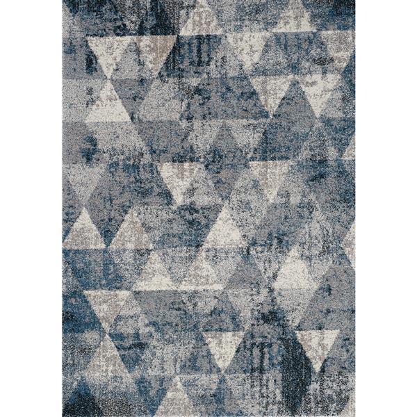 Tapis Breeze géométrique de Kalora, 8' x 11', bleu