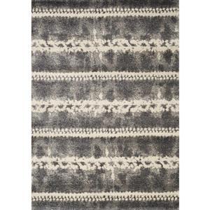 Tapis Ashbury géométrique de Kalora, 5' x 8', gris