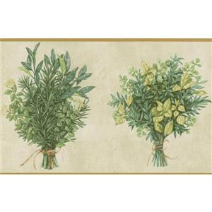 Wild Plants Bouquet Wallpaper Border - 15' x 5.25