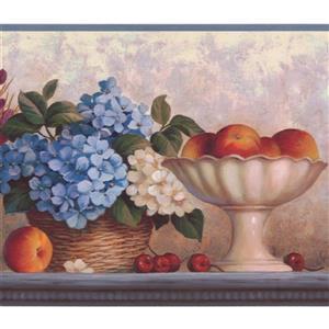 "Chesapeake Flowers Peaches Wallpaper Border - 15' x 8"" - Pink"