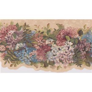 Floral Wallpaper Border - 15'  - Beige