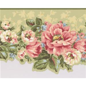 Flowers Wallpaper Border - 15' x 7