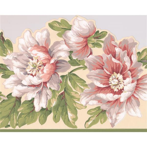 York Wallcoverings Flowers on Vine Wallpaper Border - 15-ft x 10.25-in - White
